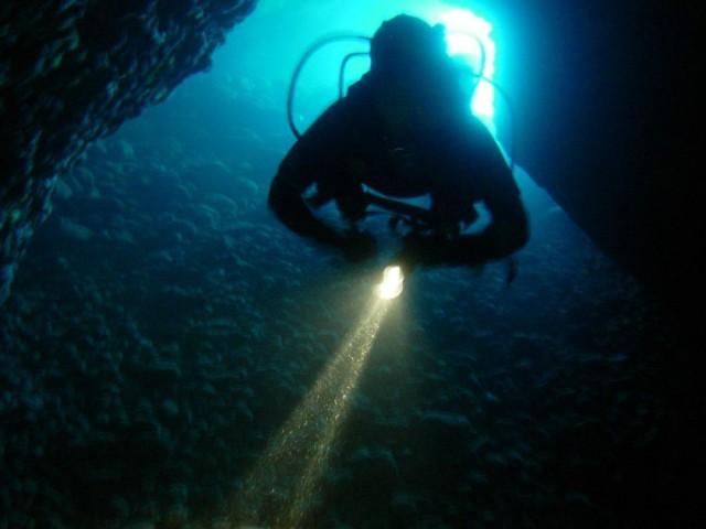 Cave Night Diving - Schwimmen Tauchen Tirol