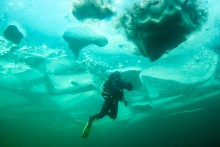 Eistauchen Achensee