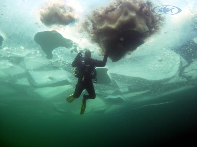 Ice Diving extrem - Eis tauchen - Schwimmen Tauchen Tirol
