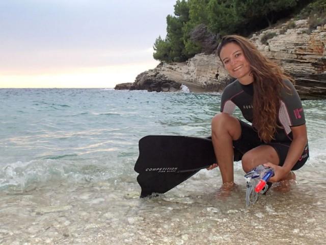 Schnorchelausbildung mit Claudia - Schwimmen Tauchen Tirol