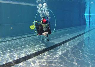 Tauchausbildung - Pool Übung - Schwimmen Tauchen Tirol